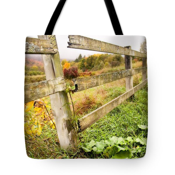 Rustic Landscapes - Broken Fence Tote Bag by Gary Heller