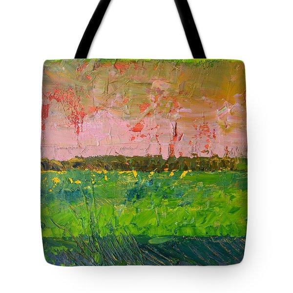 Rustic Roadside Series - Farm Fields Tote Bag