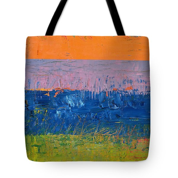 Rustic Roadside Series 2 - Thistle Field Tote Bag