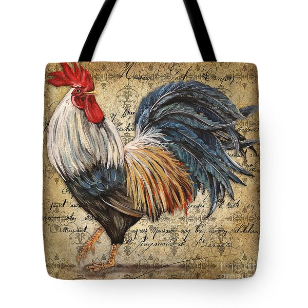 Rustic Rooster-jp2119 Tote Bag by Jean Plout