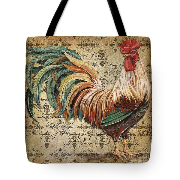 Rustic Rooster-jp2120 Tote Bag