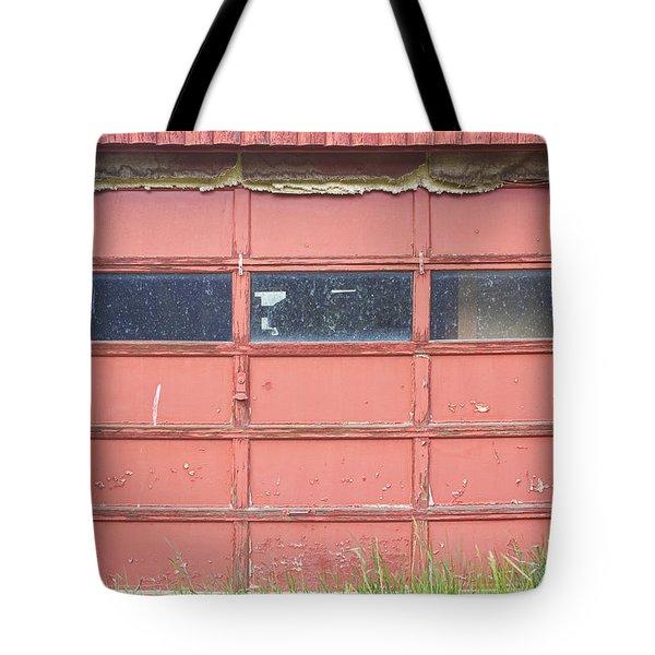 Rustic Rural Red Garage Door Tote Bag by James BO  Insogna