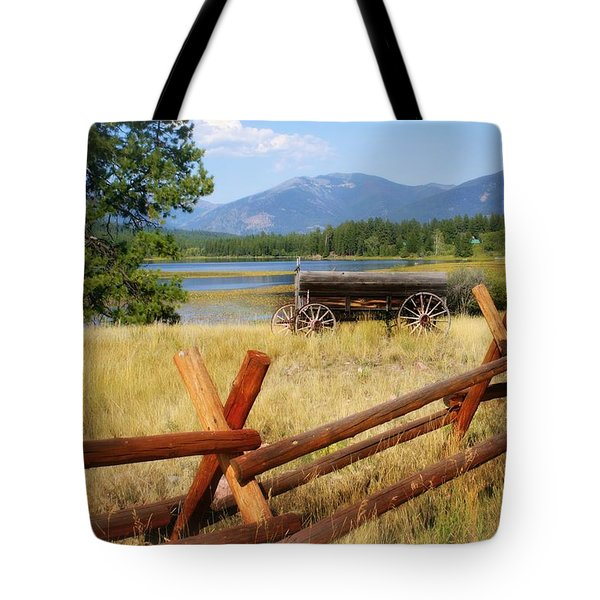 Rustic Wagon Tote Bag by Marty Koch
