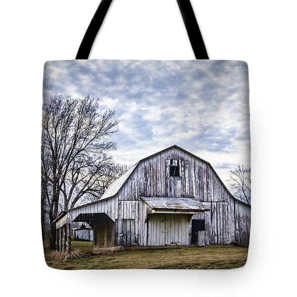 Rustic White Barn Tote Bag by Cricket Hackmann