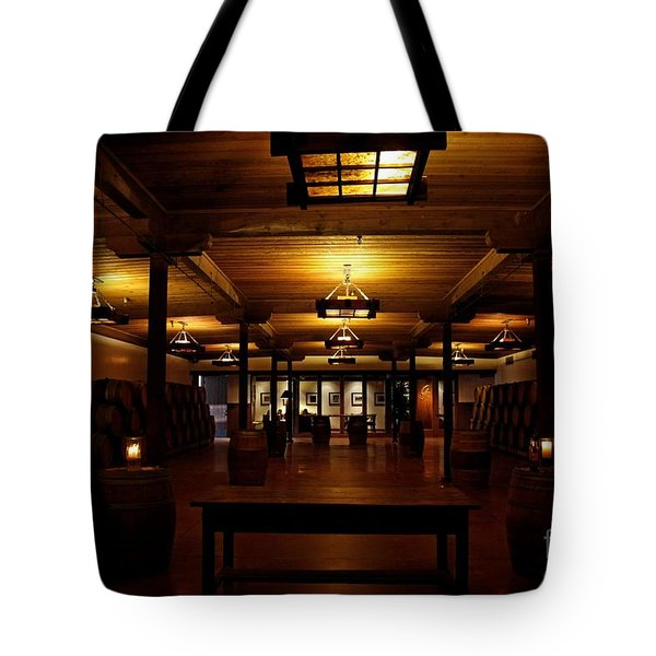 Rustic Wine Cellar Tote Bag by Nina Prommer