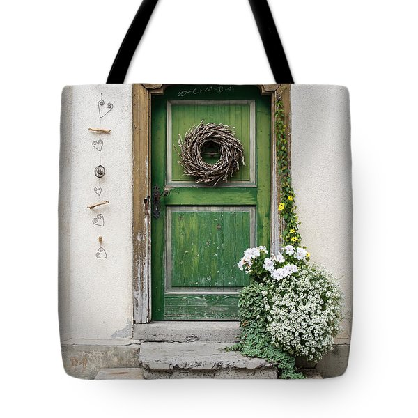 Rustic Wooden Village Door - Austria Tote Bag
