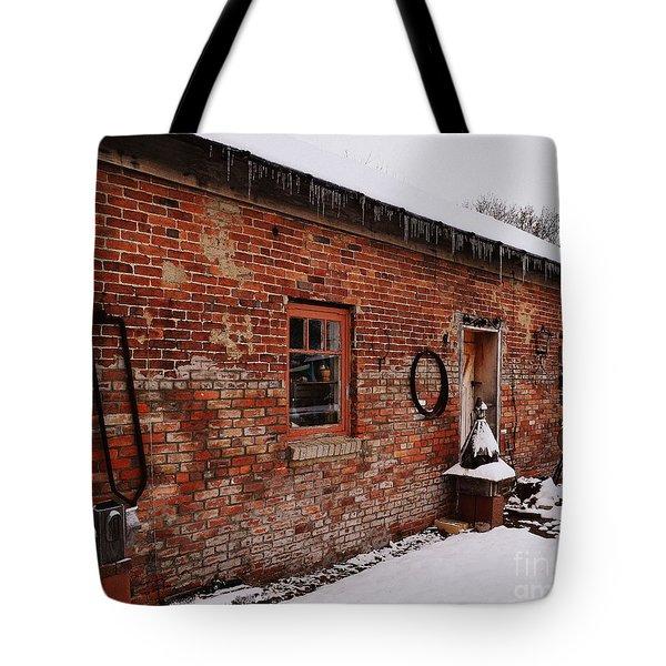 Rustic Workshop In Winter Tote Bag