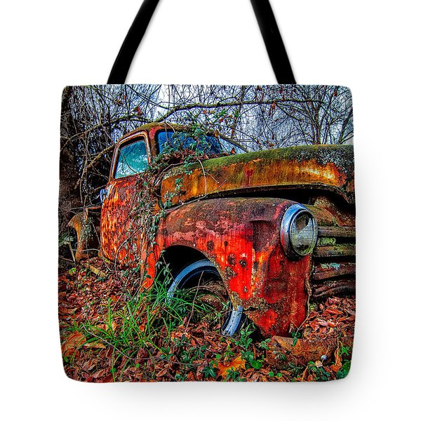 Rusty 1950 Chevrolet Tote Bag