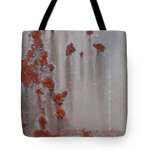 Rusty Abstract Tote Bag by Jani Freimann