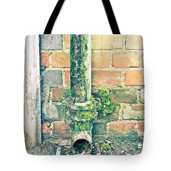 Rusty Drainpipe Tote Bag