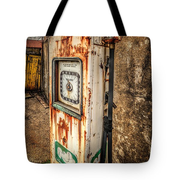Rusty Gas Pump Tote Bag by Adrian Evans