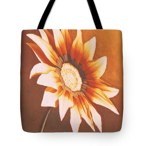 Tote Bag featuring the painting Rusty Gazania by Sophia Schmierer