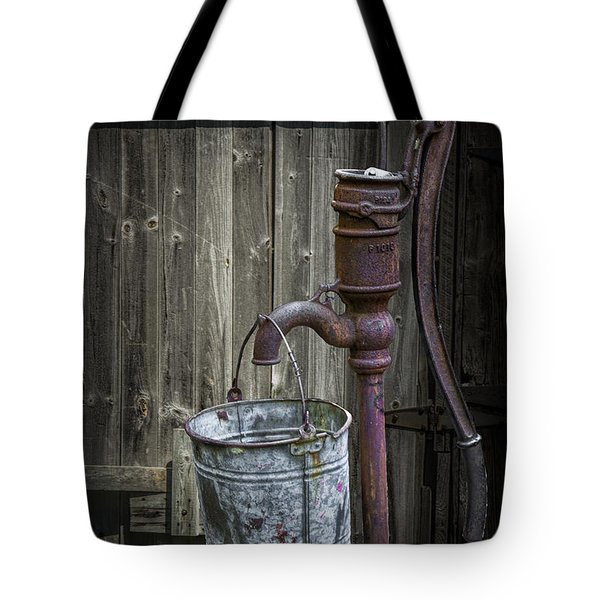 Rusty Hand Water Pump Tote Bag