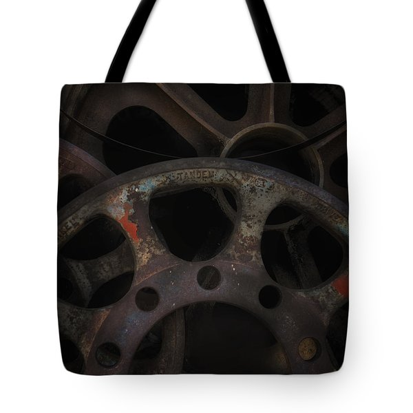 Rusty Iron Gears Tote Bag
