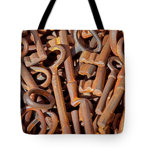 Rusty Keys Tote Bag by Art Block Collections