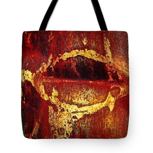 Rusty Kiss Tote Bag by Leanna Lomanski
