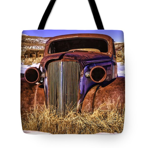 Tote Bag featuring the painting Rusty by Muhie Kanawati