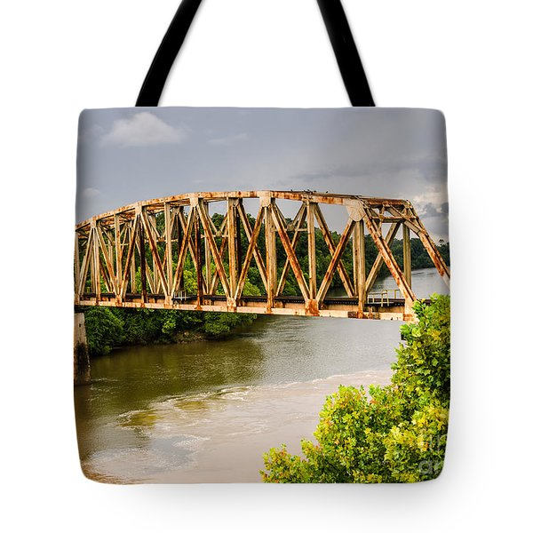 Rusty Old Railroad Bridge Tote Bag
