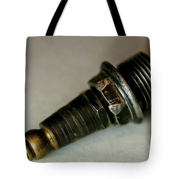 Rusty Old Spark Plugs Tote Bag by Wilma  Birdwell
