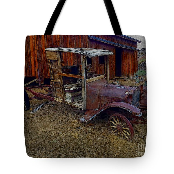 Rusty Old Vintage Car Tote Bag