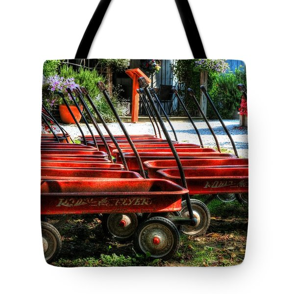 Rusty Old Wagons Tote Bag