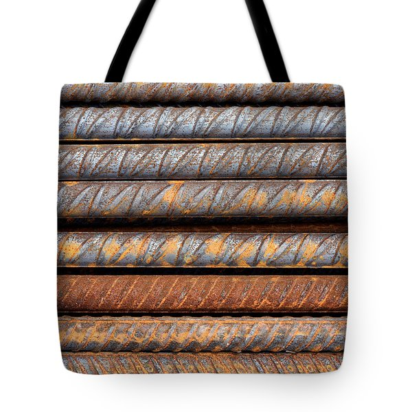 Rusty Rebar Rods Metallic Pattern Tote Bag