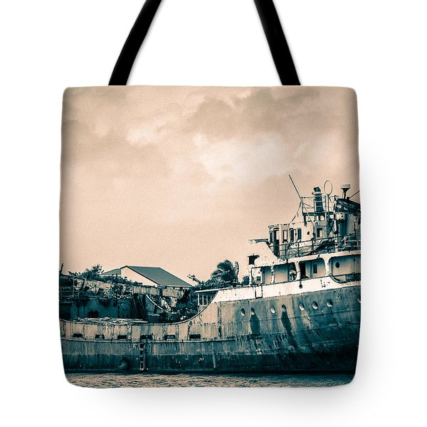 Rusty Ship Tote Bag