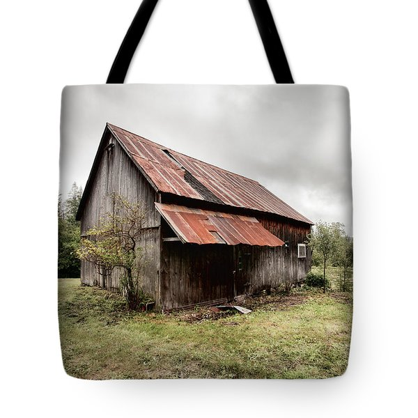 Rusty Tin Roof Barn Tote Bag
