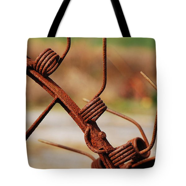 Rusty Tines Tote Bag by Mary Carol Story