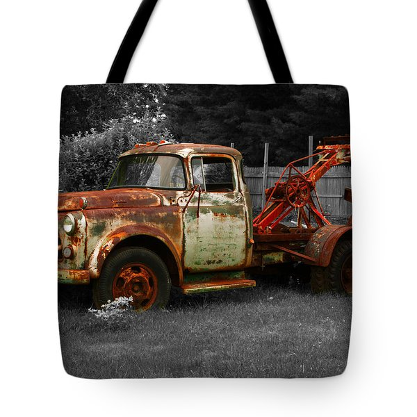Rusty Tow Truck Tote Bag