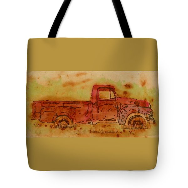 Rusty Truck Tote Bag by Jenny Williams