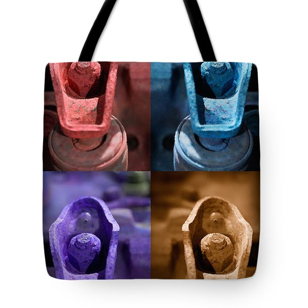 Tote Bag featuring the photograph Rusty Valves by WB Johnston