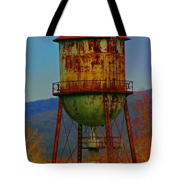 Rusty Water Tower Tote Bag by Beth Ferris Sale