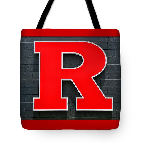 Rutgers Block R Tote Bag by Allen Beatty