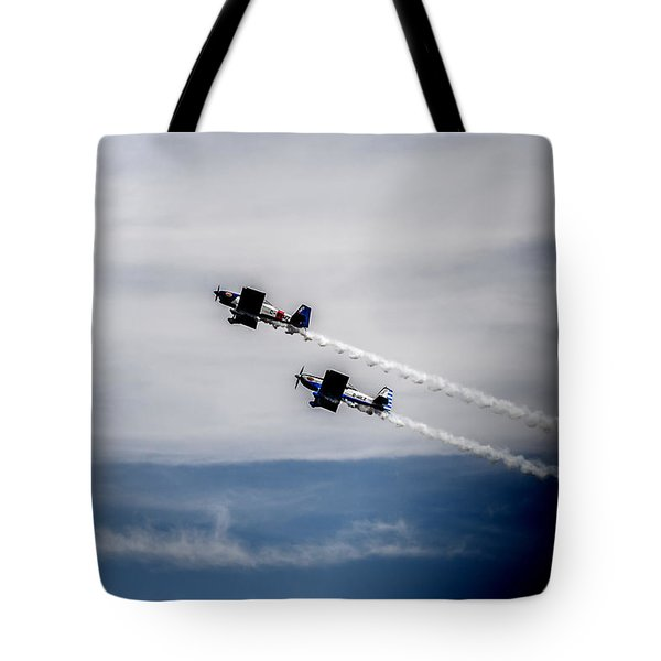 Tote Bag featuring the photograph Rv8tors Flying High Sunderland Air Show 2014 by Scott Lyons