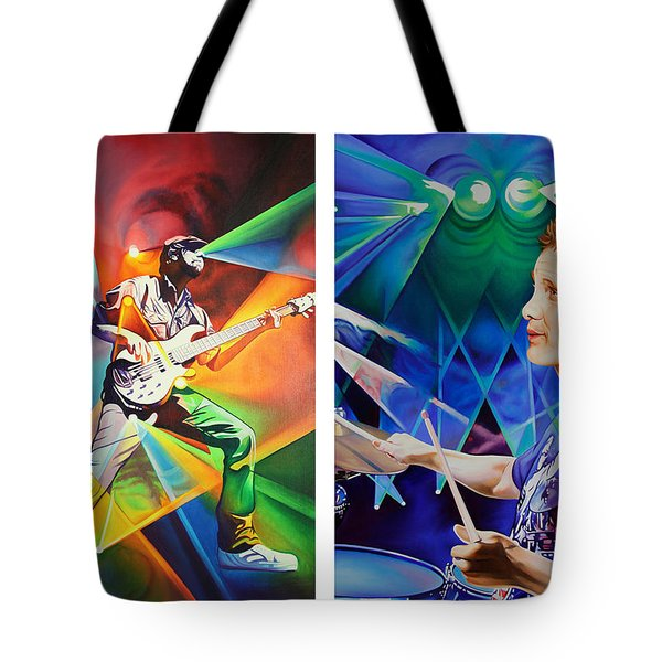 Tote Bag featuring the painting Ryan And Kris by Joshua Morton