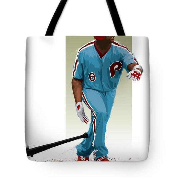 Ryan Howard Tote Bag by Scott Weigner