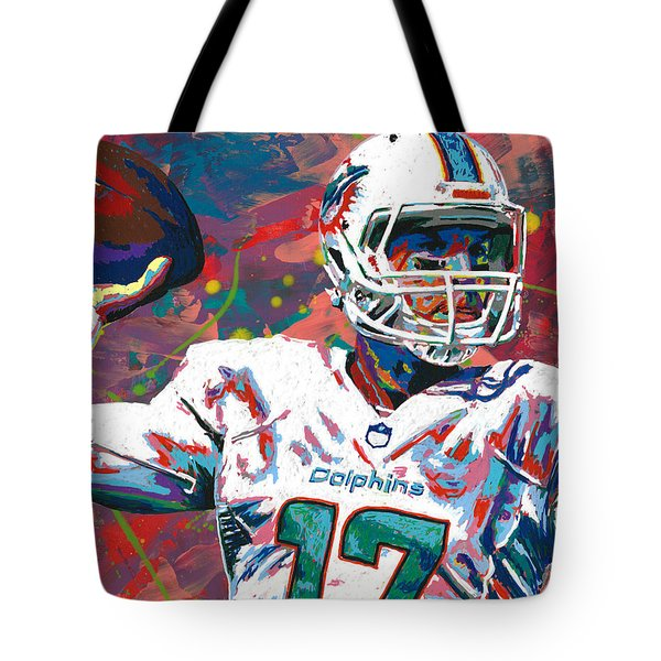 Ryan Tannehill Tote Bag by Maria Arango