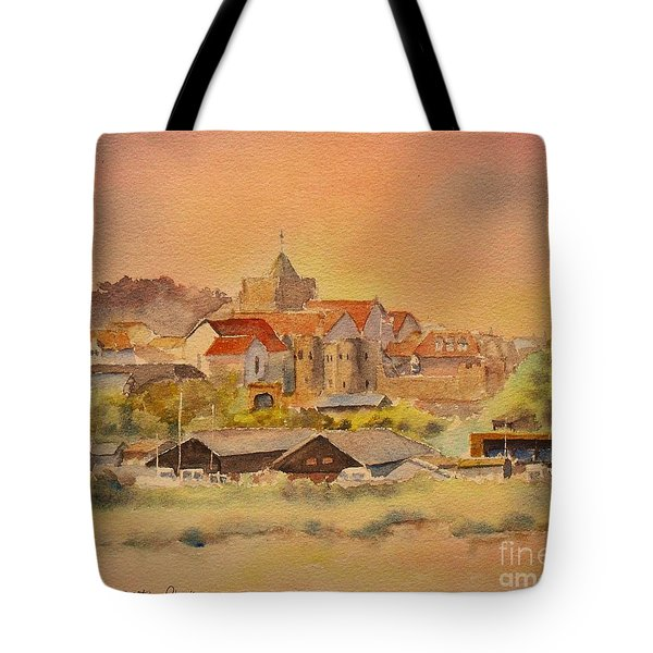 Tote Bag featuring the painting Rye East Sussex Uk by Beatrice Cloake