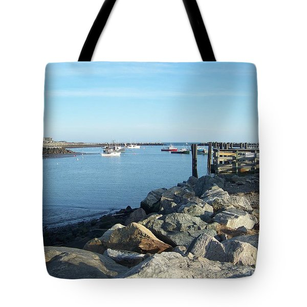 Rye Harbor  Tote Bag by Eunice Miller