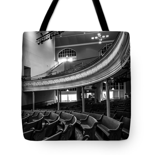 Ryman Auditorium Pews Tote Bag