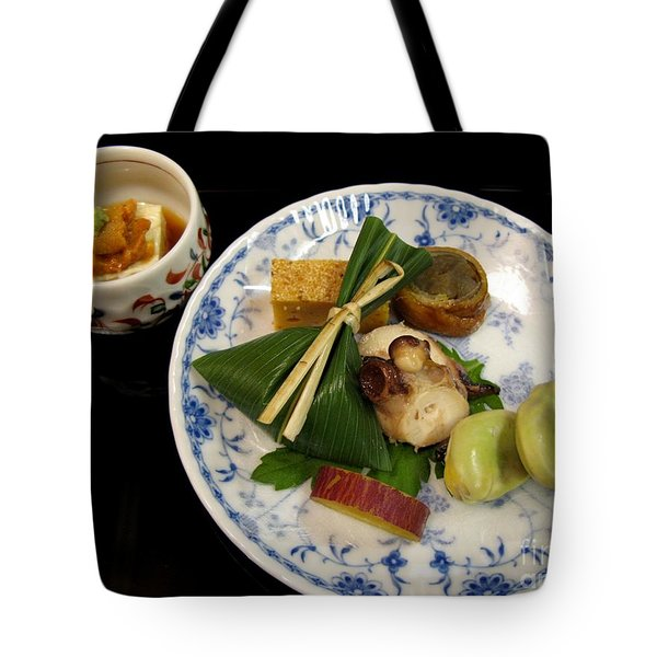 Tote Bag featuring the photograph Ryokan Dinner by Carol Sweetwood
