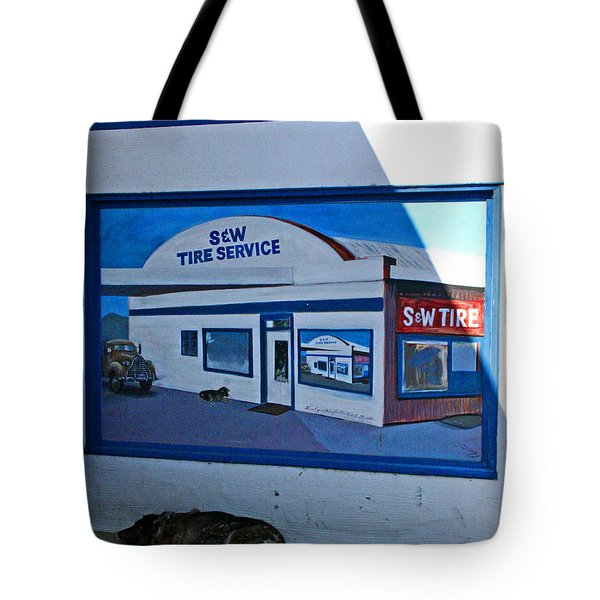 S And W Tire Service Mural Tote Bag