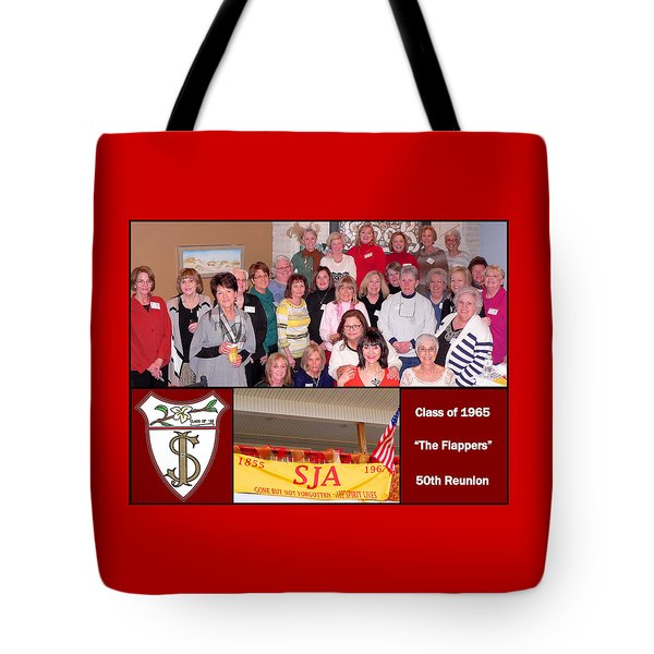 S J A Reunion Collage Flappers Tote Bag