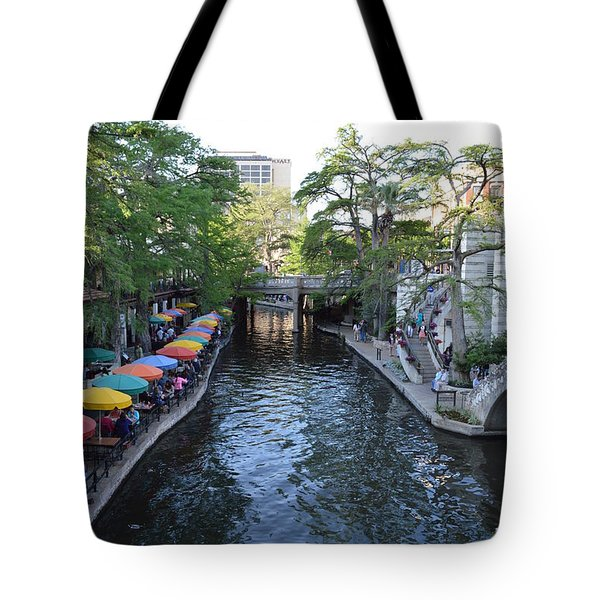Tote Bag featuring the photograph Sa River Walk 2  by Shawn Marlow