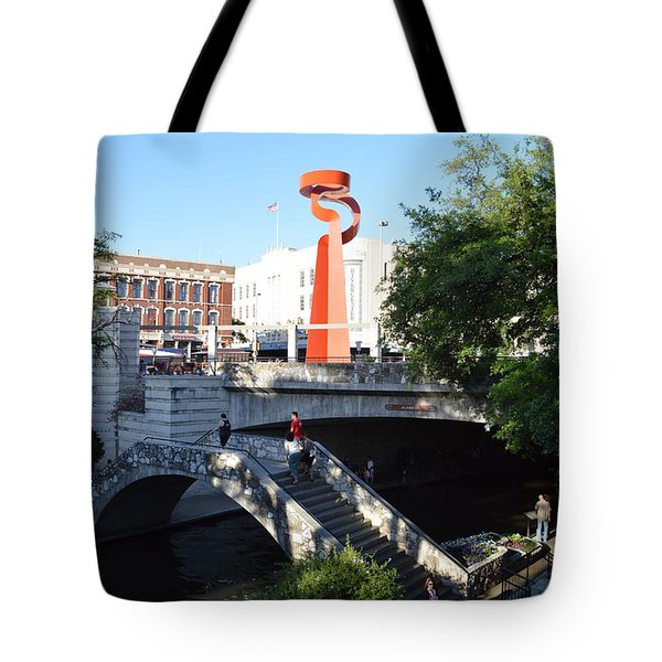 Tote Bag featuring the photograph Sa River Walk by Shawn Marlow