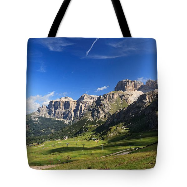 Saas Pordoi And Fassa Valley Tote Bag