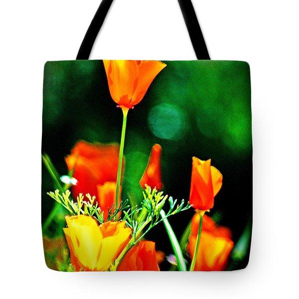Sacramento Delta Poppies Tote Bag
