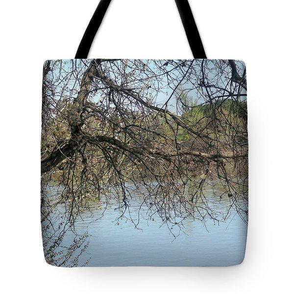 Fall At Sacramento River Scenic Photography Tote Bag
