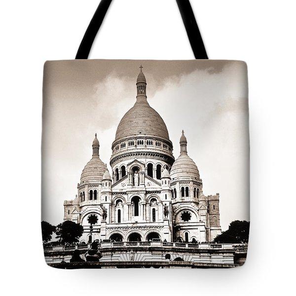 Sacre Coeur Basilica In Paris Tote Bag by Elena Elisseeva